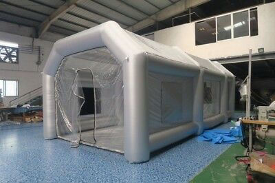 26x13x10Ft Inflatable Spray Paint Booth Custom Tent Car + Filtration System+ Fan