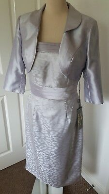 Gino Cerruti London size14 Silver and mauve mother Of The Bride Outfit