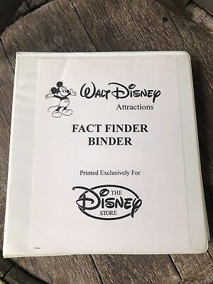 Walt Disney Attractions Fact Finder Binder - Rare