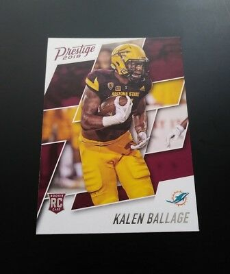 Kalen Ballage Dolphins RC Rookie #296 Panini Prestige 2018 NFL Football Card