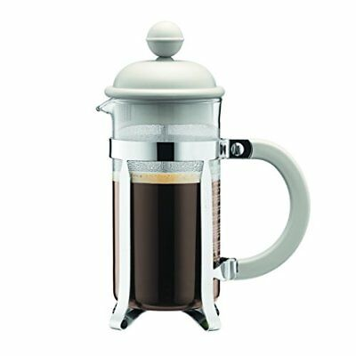 Bodum 1913-913US Caffettiera 0.35-Liter 3-Cup Coffee Maker, 12-Ounce, Off-White