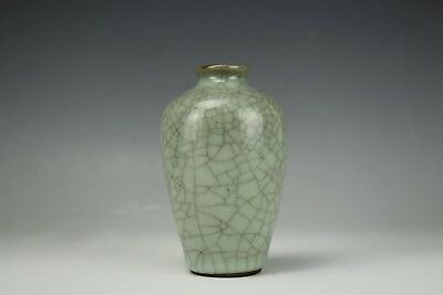 An Antique Asian Chinese Porcelain Guan Glazed Vase