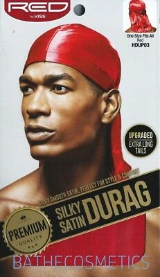 Red By Kiss Premium Quality Silky Satin Durag RED!! HDUP03 (6 packs)