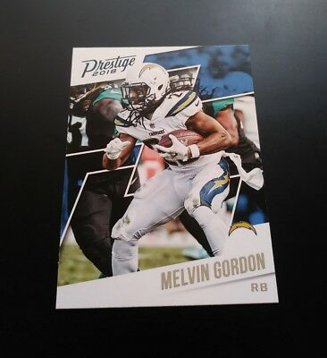 Melvin Gordon Chargers #30 Panini Prestige 2018 NFL Football Trading Card