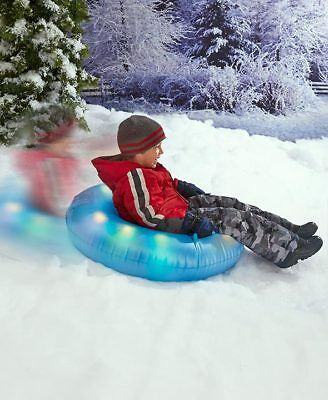 Cool Led Lighted Lightweight Snow Tube Epic Xtreme Snow Day Toys Sled Sledding