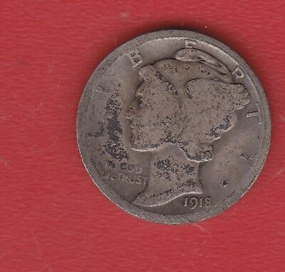 Usa 10 Cents 1918 Silver