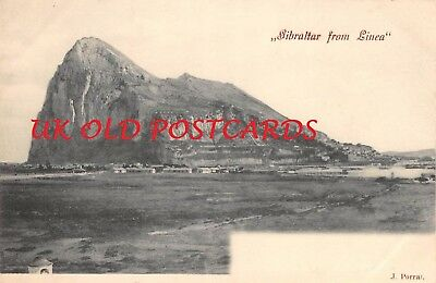 GIBRALTAR, From Linea,  Early Printed Postcard by J. Porral