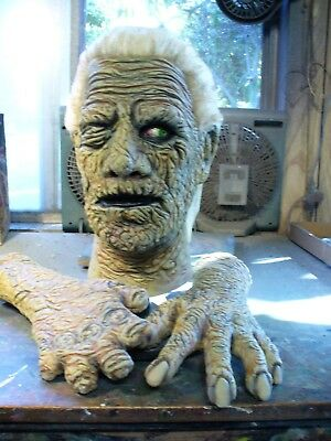 Don Post Custom Mummy A Mask & Replica Hands set ~ Tharp