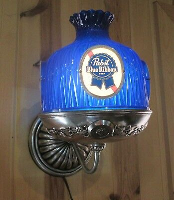 Vintage Pabst Blue Ribbon Beer Blue Sconce Light - Works