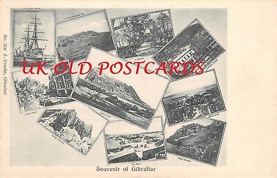 Souvenir of GIBRALTAR,  Views of the Island, Early Printed Postcard by  J. Cumbo