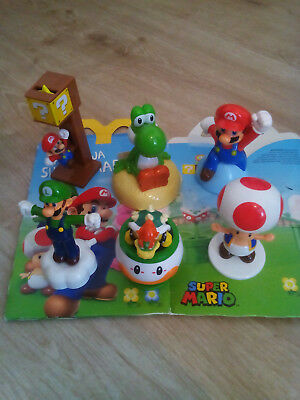 MC DONALDS HAPPY MEAL SPIELZEUG SUPER MARIO, Bowser, Luigi, Toad, Yoshi