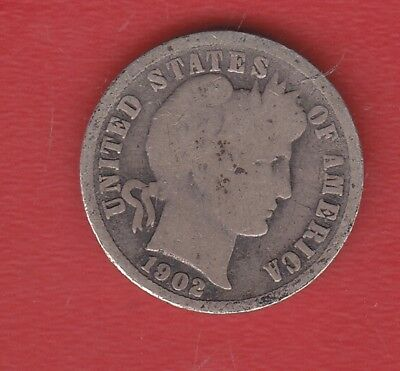 Usa 10 Cents 1902 Silver