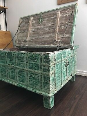 Antique Painted Chest Coffee Table