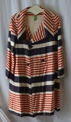 Vintage Raincheetahs by Naman Red White and Blue Striped Coat No Tag Apprx M GUC