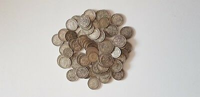 Untied Kingdom Six Pence , One Shillng , Two Shillings   Silver Lot - 395 gramm