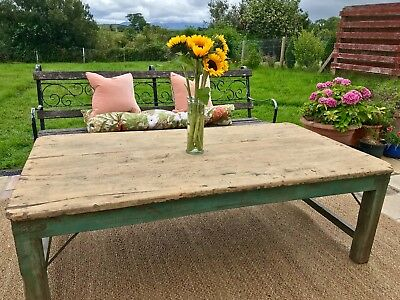 Vintage Antique Large Coffee Table Low dinning table