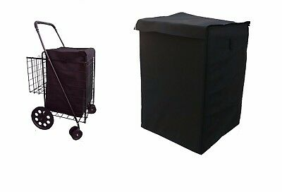 grocery folding shopping cart (LINER)  jumbo size  CART NOT INCLUDED color black
