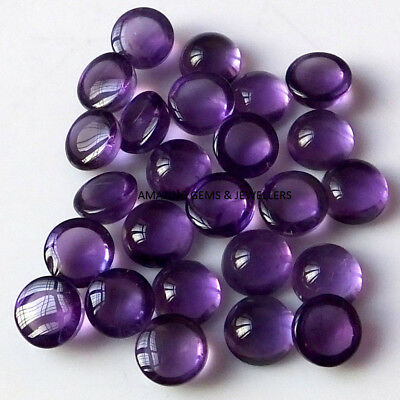 15 Pcs Lot Natural AMETHYST 3x3 MM Round Cabochon Loose Gemstone T--03