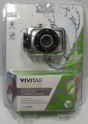 Vivitar DVR781HD High Def Action Cam with Waterproof Case 720p Silver NEW