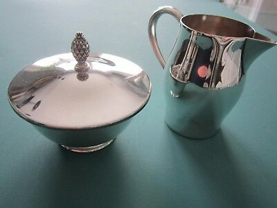 SET OF STERLING SILVER CREAM AND SUGAR BOWL  Wm. Rodgers