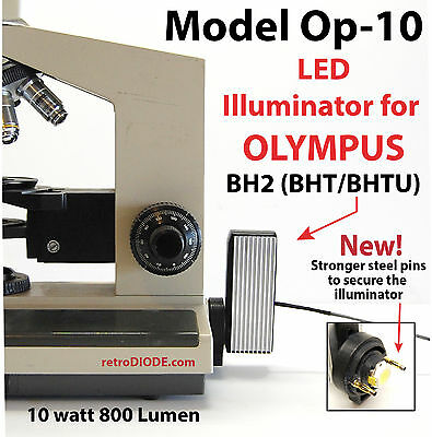 LED illuminator retrofit Kit with dimmer control for older OLYMPUS microscopes.