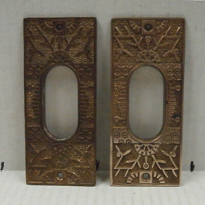 Two Collectible Vintage Brass Pocket Door Plates