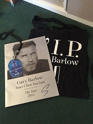 Gary barlow Signed Programme