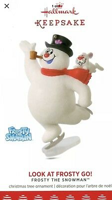 2017 Hallmark Frosty The Snowman Look At Frosty Go! Ornament New In Box