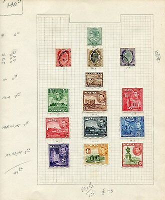 Weeda Malta 8/347 F/VF Collection, 1885-1966 Commonwealth issues CV $148