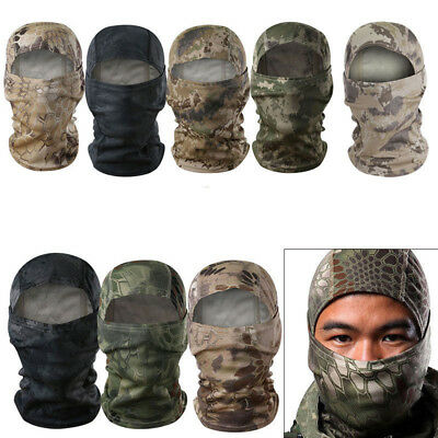 Camouflage Balaclava Camo Snood Neck Full Face Mask Ski Motorcycle Airsoft Hat