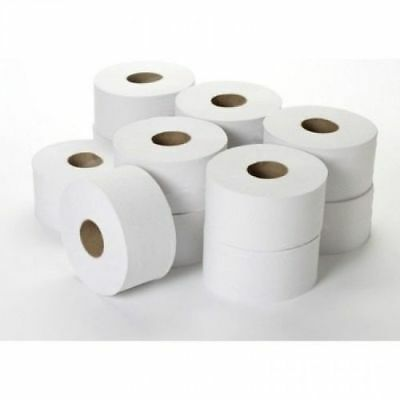 Mini Jumbo Toilet Rolls Large Industrial Commercial Toilet Paper Tissue 12 PACK!