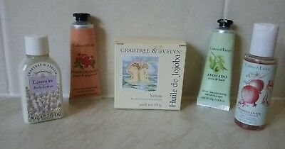 Crabtree and Evelyn Hand Creams + Soap + Gel + Lotion Lot