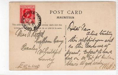 MAURITIUS: 1928 Picture postcard to England (C37542)