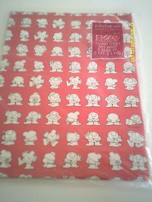 Vintage 1984 ZIGGY WRAPPING PAPER American Greetings Mint In Package
