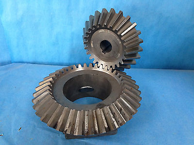 """Industrial Steel Bevel Gear 90 Deg. Angle. 4.25"""" and 1.25"""" Shaft I.D."""