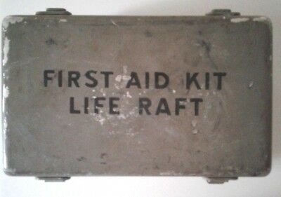 WW 2 US Navy life raft first aid kit with contents