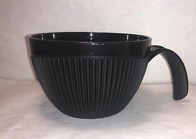 Tupperware Rock N Serve 2cups Soup Mug Black 5201A-1 *No Lid