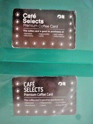 TWO(2) princess cruises coffee cards ,15 specialty coffees each card