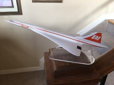 Braniff International Airlines/ Air France 1970s Concorde agency model