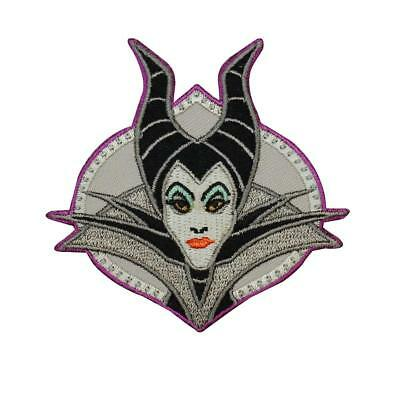 """Maleficent Queen Round 3/"""" Diameter Embroidered Iron on Patch"""