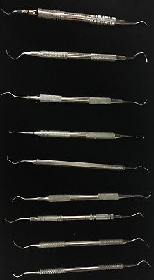 Lot Of 9 Dental Scalers