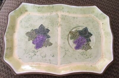 Vintage PORTMEIRION Purple Grapes SERVING PLATTER Hand Painted China