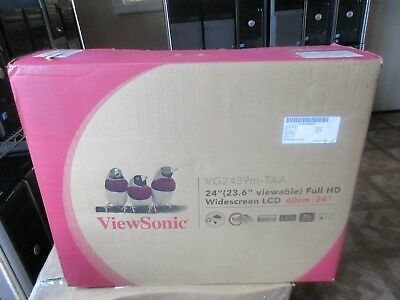 "New ViewSonic VG2439m 24"" Widescreen LCD Full HD 1920x1080 VGA DVI USB PORTS"