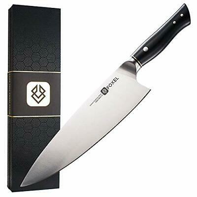Chef Knife - Professional 9 inch Kitchen Knife – Foxel LYNX Series Carbon Steel
