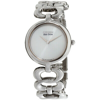 Citizen Silhouette Silver Dial Stainless Steel Ladies Watch EM0220-53A