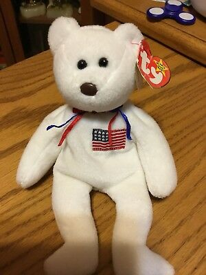 LIBEARTY the Bear Rare TY Beanie Baby with Tag Errors and Rarities