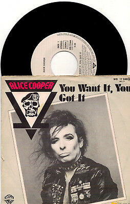 Alice Cooper - You Want It, You Got It / Who Do You Think We Are - 7'' Vinyl
