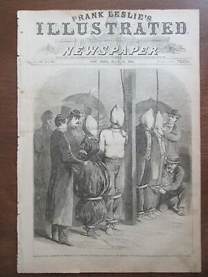 Abraham Lincoln hanging the conspirators Frank Leslie's Newspaper July 22 1865