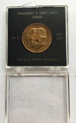 No 3 President & First Lady Series Coin Token George & Martha Washington