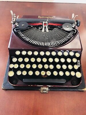 Remington Red Burgundy Typewriter